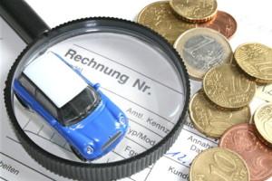Kostenfaktoren für die Rechnung der Kfz Versicherung
